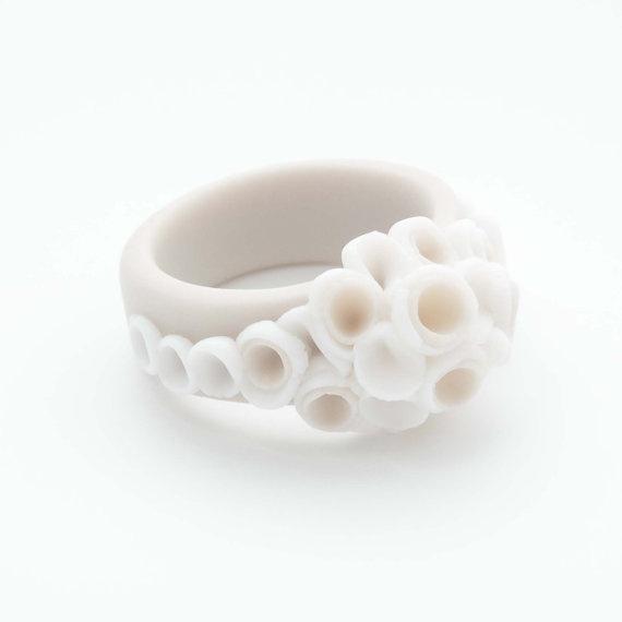 La Angosta Porcelain RingGift for her under 50Ecru by MaaPstudio, $48.00