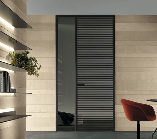 Even Doors by Rimadesio are made completely of glass and are custom-made to fit your space. #doors #interiors #hauteliving #chicago