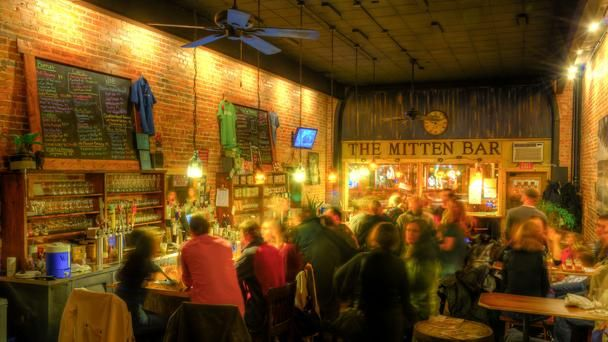The Mitten Bar, Ludington, Michigan - named one of America's best beer bars by BBC Travel.