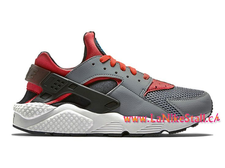 Nike Air Huarache Run Officiel Basket Pas Cher Chaussures Pour Homme Gris Rouge 318429-009