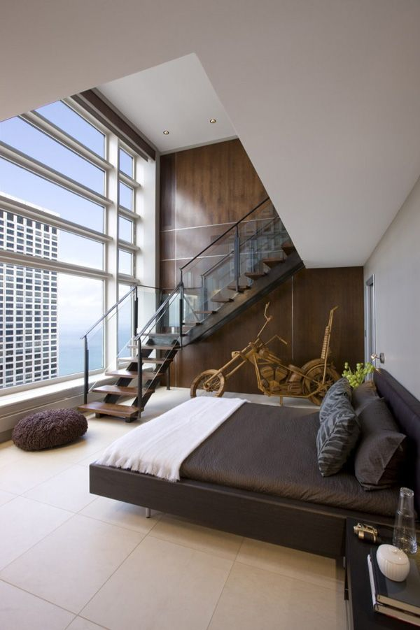 Contemporary Olympia Center Penthouse in Chicago by interior design firm jamesthomas