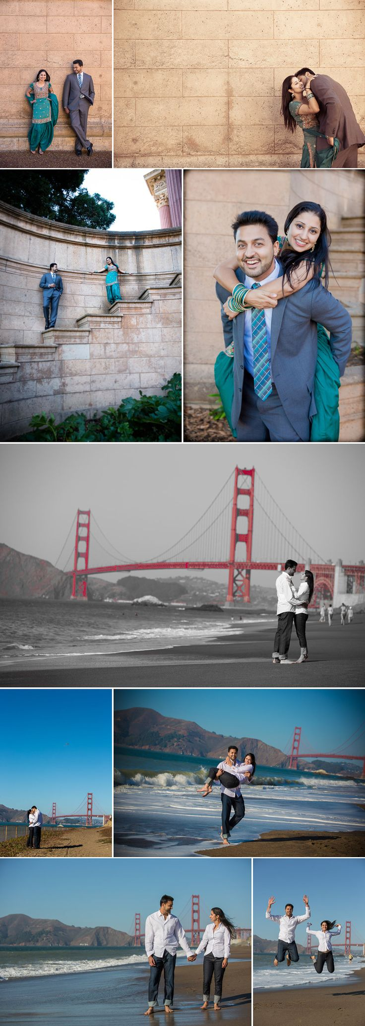 SF engagement photo collage idea