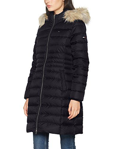 Tommy Jeans Hilfiger Denim THDW Basic Down Coat 3 Manteau Femme Noir (Black  Beauty) XX-Large   Manteaux femme Noir   Pinterest   Hilfiger denim, ... d616cf2ecd20