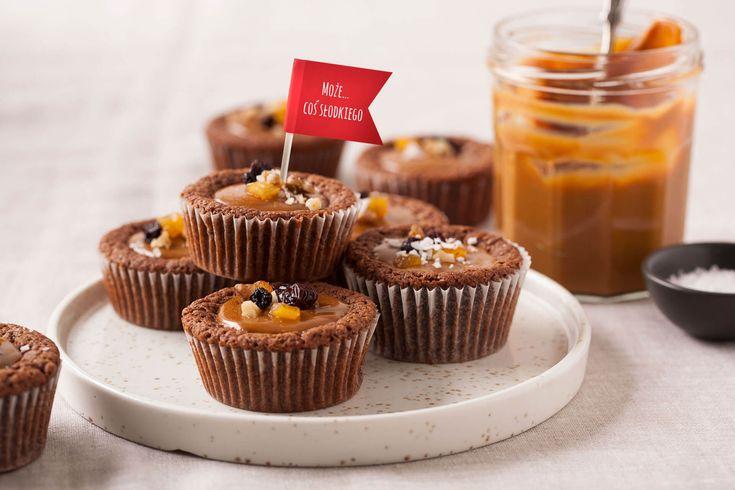 #Babeczki #brownie karmelowe z solonym kajmakiem i bakaliami #kajmak #bakalie #karmel #caramel #driedfruit #ciastka #deser #deliciousdesserts  #delicious