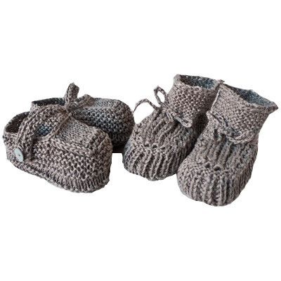 FOG LINEN KNITTED BABY SHOES