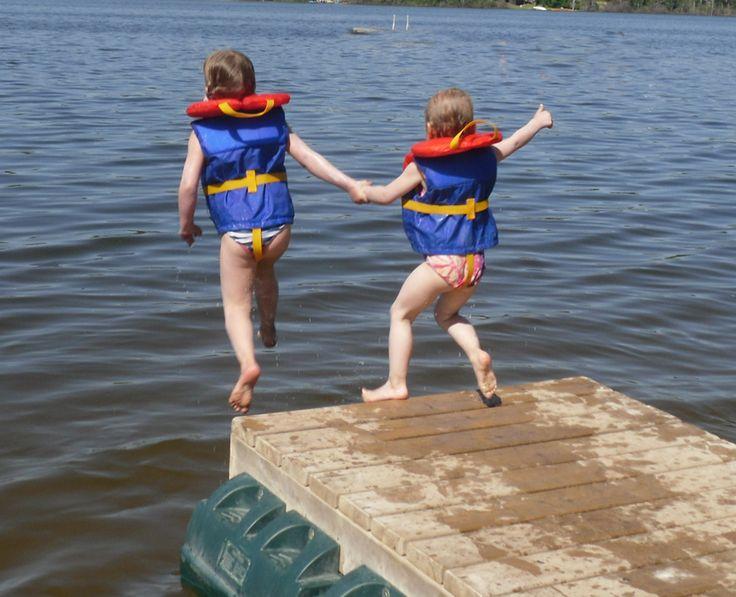 Going swimming at Lucien Lake #lucienlake #jumpin #goneswimming #lakelife #lakefrontlots #lakesidelots #rvlots #sasklakes