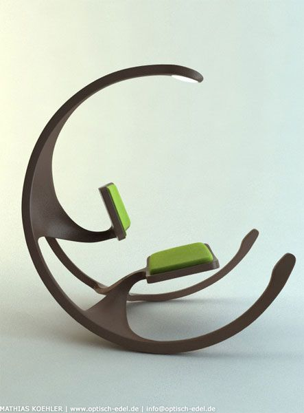 !Rocks Chairs, Design Chairs, Chairs Rocks, Funky Modern, Chair Design, Image, Green Colors, Chairs Rocking Chairs 1, Chairs Design