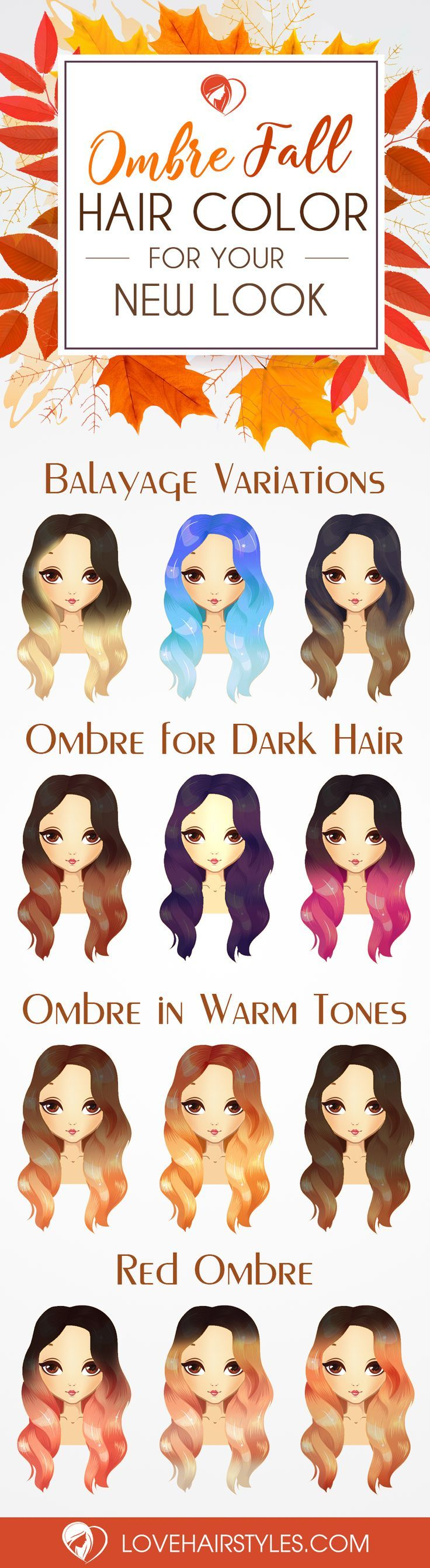 Ombre fall hair colors look best when combined correctly. How should you know wh...