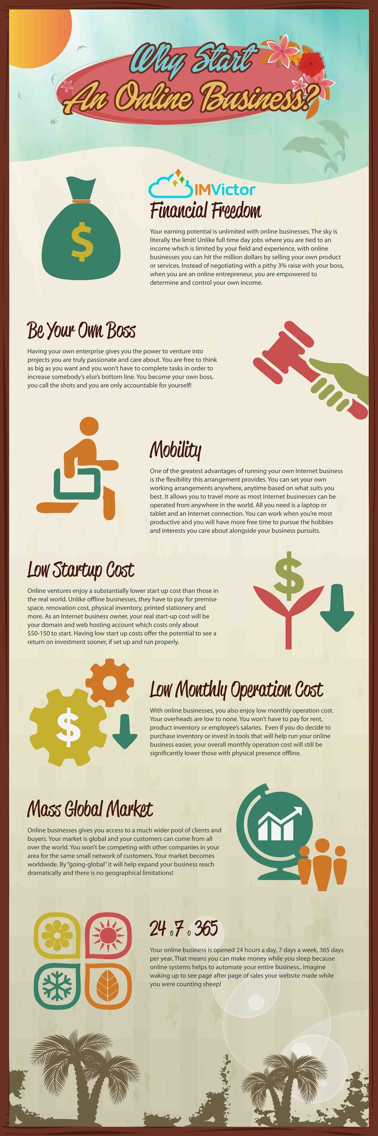 Why Start An Online Business?  #Infographic #OnlineBusiness #Business