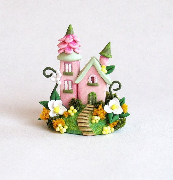 Miniature  Charming Fairy Blossom Whimsy House OOAK by C. Rohal on Etsy, $72.98 CAD