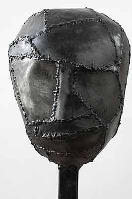 Magdalena Abakanowicz. IRON HEADS 2004, welded steel each different about tall 95 cm (with base).