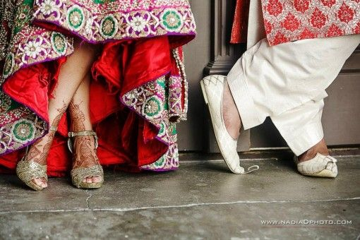 Indian wedding shoe shot by Nadia D Photography via IndianWeddingSite.com