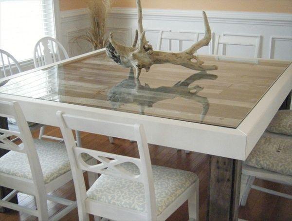 48 best pallet dining table images on pinterest pallet dining tables pallet wood and wood pallets. Black Bedroom Furniture Sets. Home Design Ideas