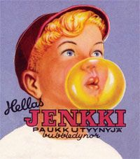 Purukumiseos, josta sai tehtyä palloja, keksittiin sattumalta vuonna 1928. Suomen ensimmäinen purukumin valmistaja oli turkulainen Hellas, joka toi vuonna 1951 markkinoille yksittäispakatun Jenkki-palapurukumin.