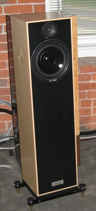 WLM LaScala loudspeakers mounted with outriggers and spikes