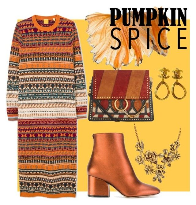 """""""Pumpkin spice!"""" by onyourback on Polyvore featuring Salvatore Ferragamo, Chloé, Chanel and WithChic"""
