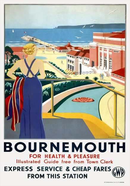 bournemouth-for-health-pleasure.-gwr-vintage-travel-poster-by-g-d-tidmarsh-970-p.jpg (437×624)