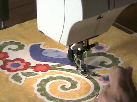 Jeri Kelly shows how to quilt using the machine applique technique.