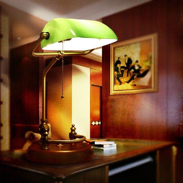Banker desk lamps