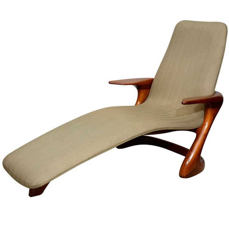 Mid Century Italian Chaise Lounge