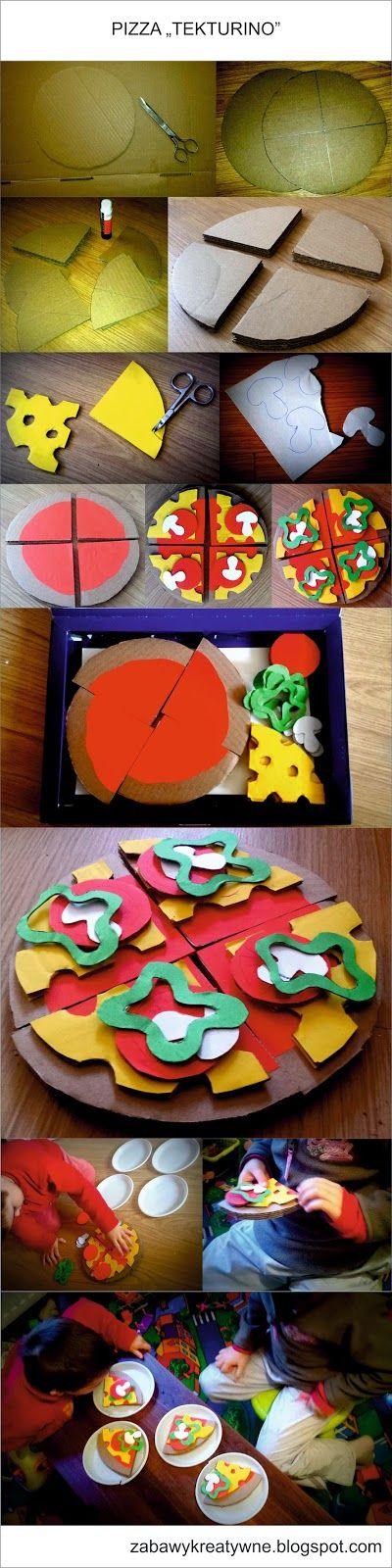 Zabawy kreatywne: Pizza z tektury