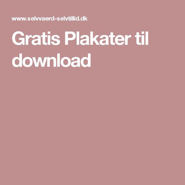 Gratis Plakater til download