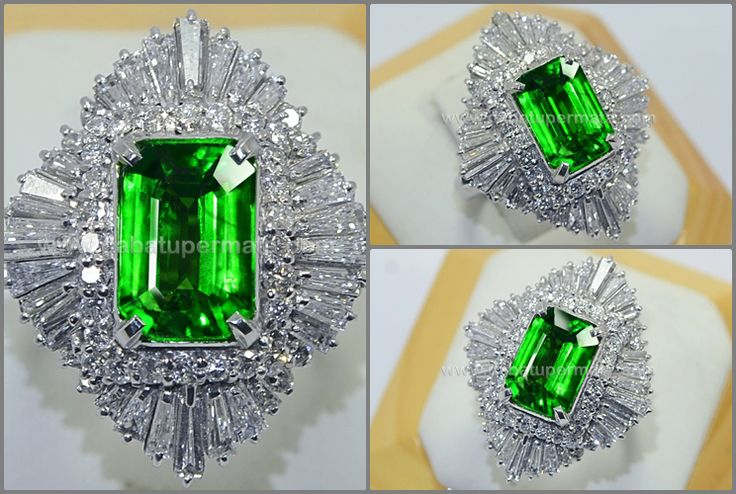 Elegant Hot Metallic Green TSAVORITE GARNET TOP Colour - RGR 006