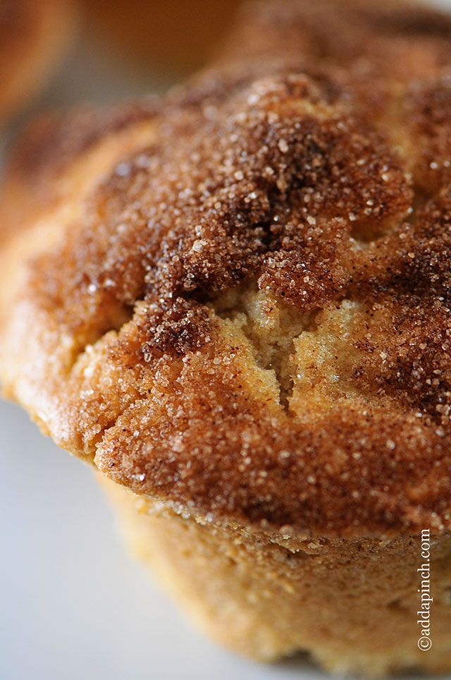 Cinnamon Apple Muffins Recipe - You'll get requests for these delicious muffins every weekend! Great for brunch too! from addapinch.com