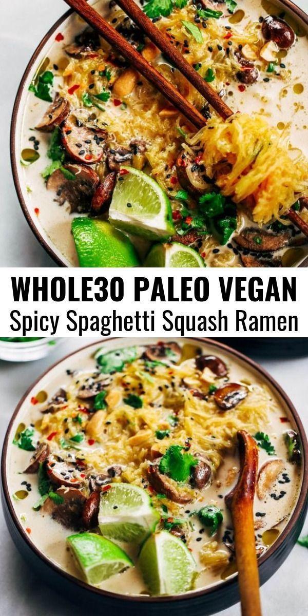 Spicy Peanut Spaghetti Squash Ramen