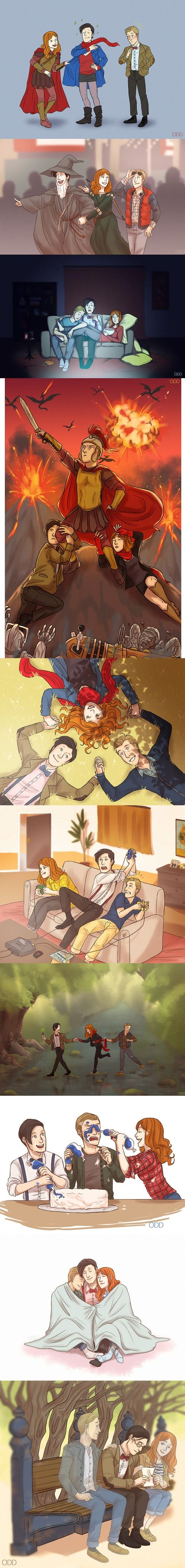 The Doctor, Amy, and Rory Fanart [This is so sad. :'( ] THE LAST ONE RORY AND AMY ARE GHOSTS!!!!!!:''''''(