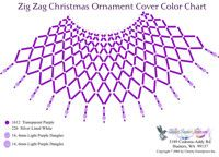 Zig Zag Purple Christmas Ornament : Beading Patterns and kits by Dragon!, The art of beading.