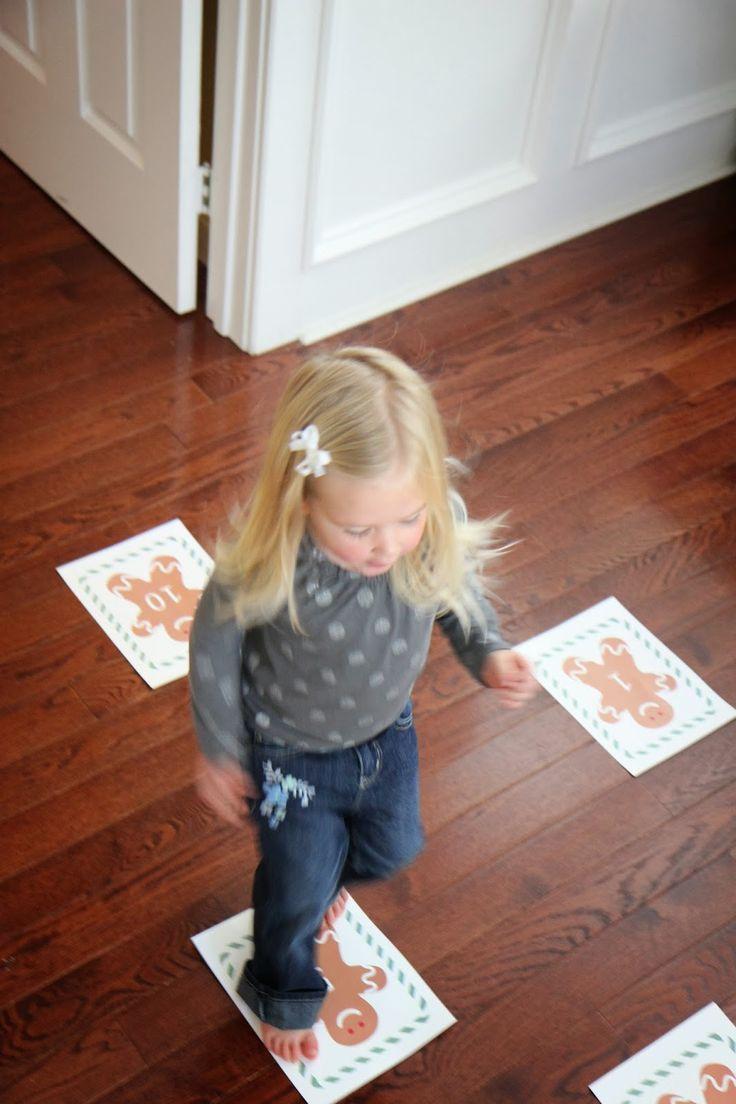 Toddler Approved!: Gingerbread Men Number Hop. Math game for kids!