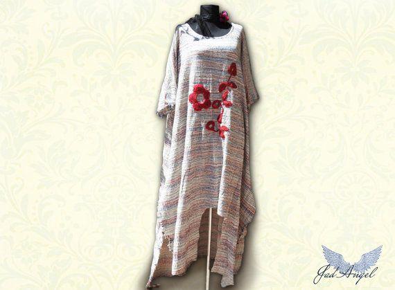 Summer Organic dressPlus Size Dress  Eco Romantic boho by JadAngel