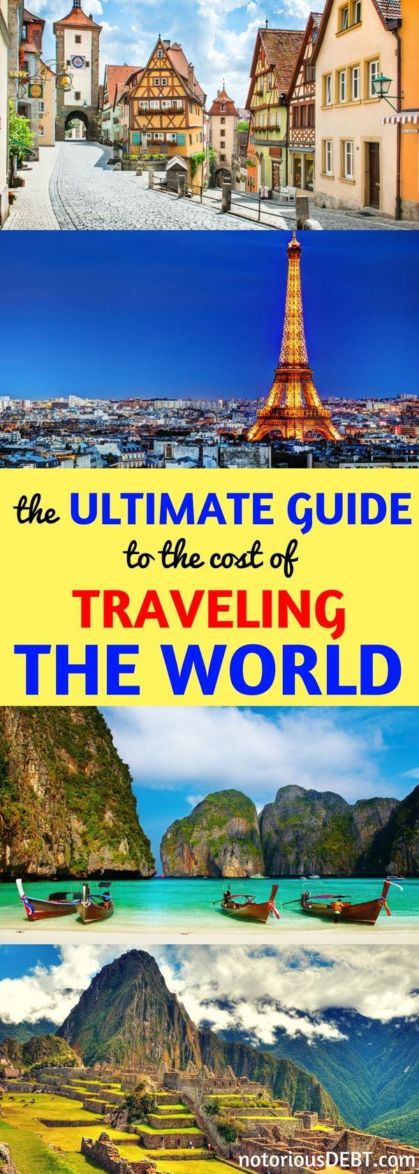I used to think traveling was only for rich people. I was wrong! But I wanted to know: #how much does it REALLY cost to travel the world? I made this comprehensive list of travel adventures from all over the globe. I crunched the numbers from 46 different countries so you can easily see how much you can expect to pay no matter where you want to go! Turns out, you CAN travel on a #budget! Use this list for #ideas on where to travel and how much you can expect to pay! #vacations #tips