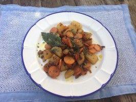 Patate e carote in padella