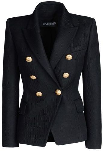 BALMAIN Blazer. Coveting to wear with ripped jeans :).