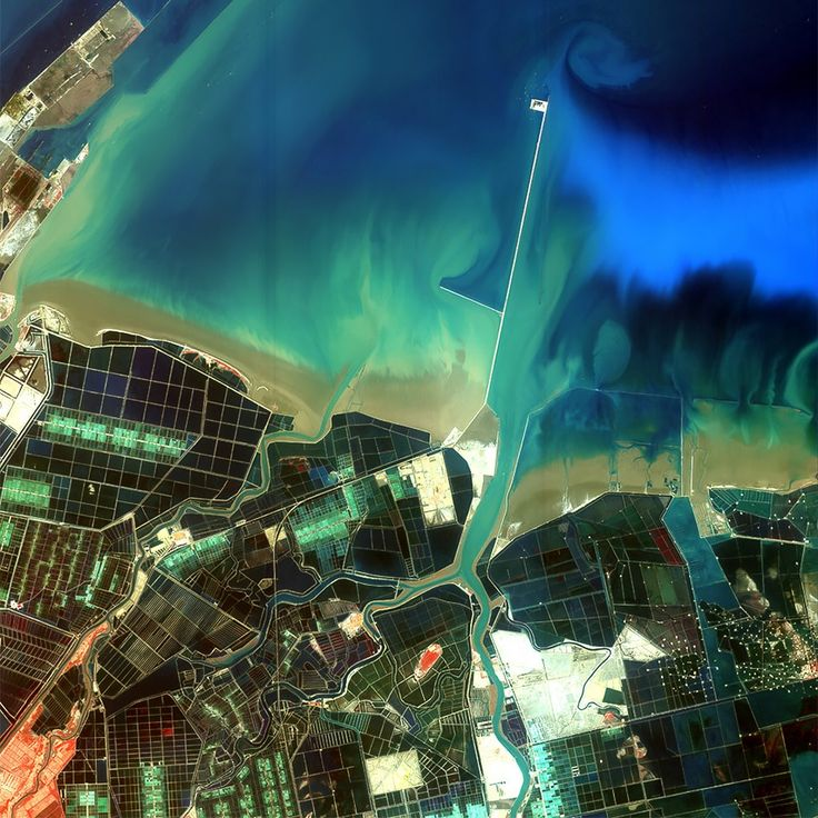 Как выглядит Китай: Сюрреалистичные фотографии из космоса. Изображение №4.