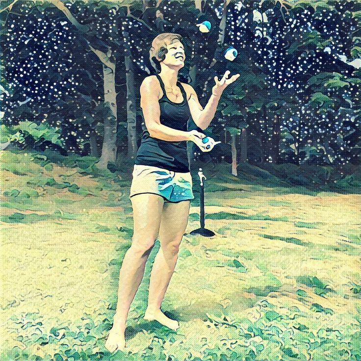 #art #joggling #nature #summer #sun #painting