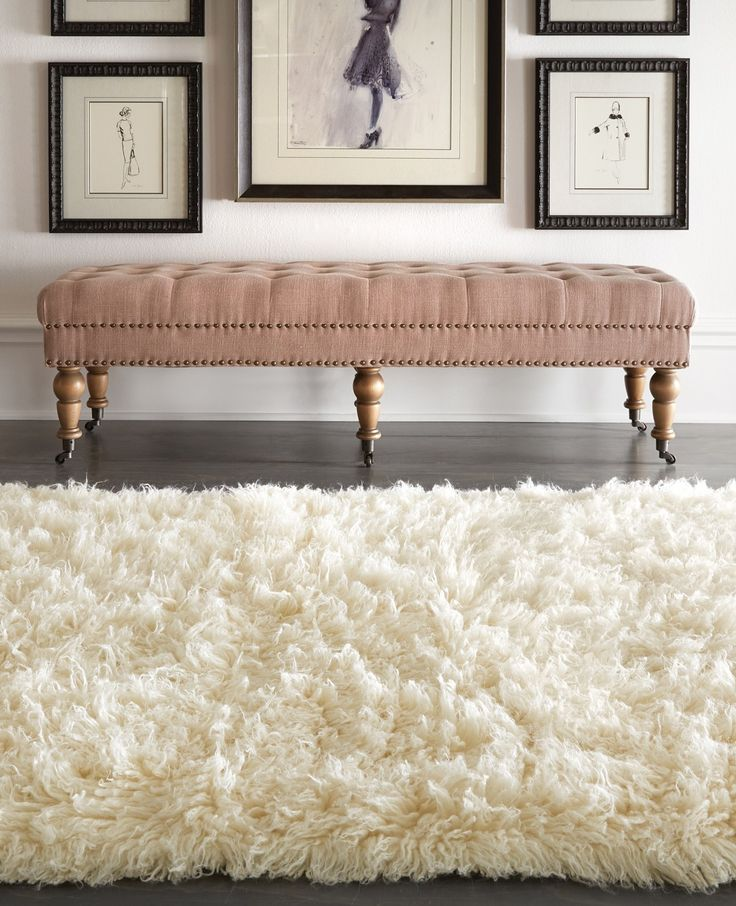 Plush, plush, plush! The hand-cut and hand-woven wool of this rug is washed in the waterfalls of the Pindus Mountains for fluffy softness. Perfect atop cold, hardwood floors, this Premium Flokati Area Rug with make your home so cozy and inviting.