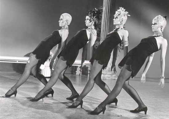 "A still of Bob Fosse's ""Rich Man's Frug,"" from the 1969 film Sweet Charity."