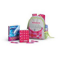 American Girl® Accessories: School Backpack Set for Dolls         for when they go to school