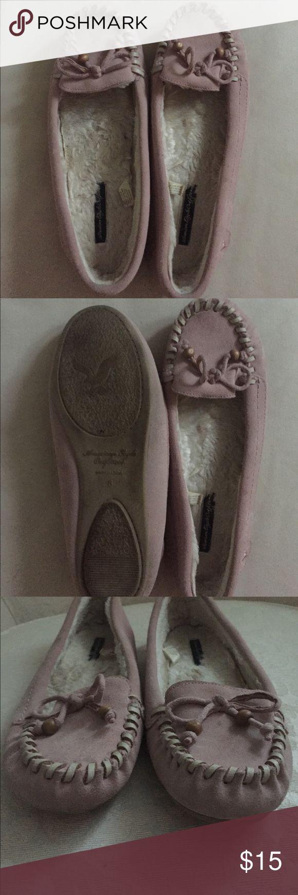 American eagle Mocs Soft pink moccasins size 8 from American eagle American Eagle Outfitters Shoes Moccasins