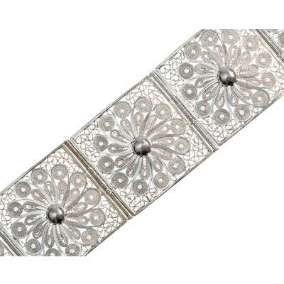 Bracelete Filigrana em Prata Colombiano Diosa