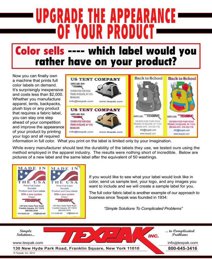 16 best Care Labels and Label Printing Systems images on Pinterest - product label sample