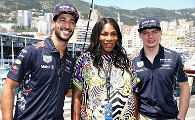 After Romantic Babymoon With Fiance Serena Williams Steps Out For Monaco Event