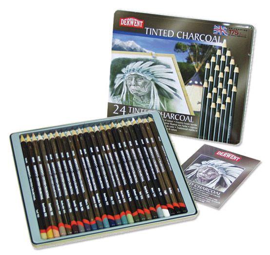 Derwent Tinted Charcoal Pencil Sets - JerrysArtarama.com