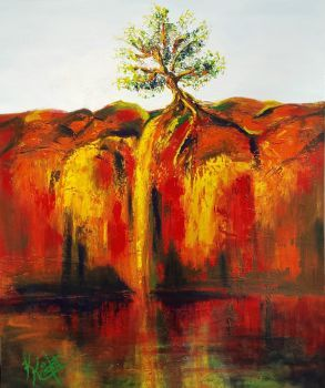Outback Gorge Artist: Knight, Kerryn Artwork title: Outback Gorge Price: $495