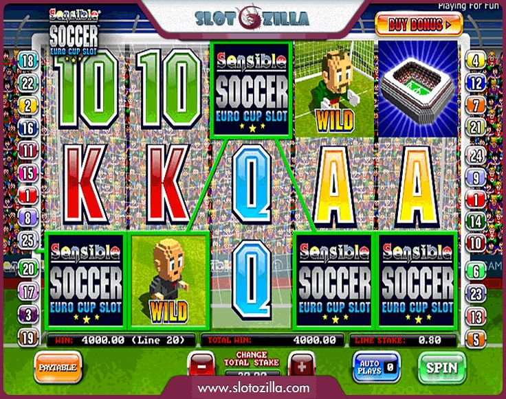 Sensible Soccer free #slot_machine #game presented by www.Slotozilla.com - World's biggest source of #free_slots where you can play slots for fun, free of charge, instantly online (no download or registration required) . So, spin some reels at Slotozilla! Sensible Soccer slots direct link: http://www.slotozilla.com/free-slots/soccer-2