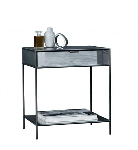 moon side table with drawer low
