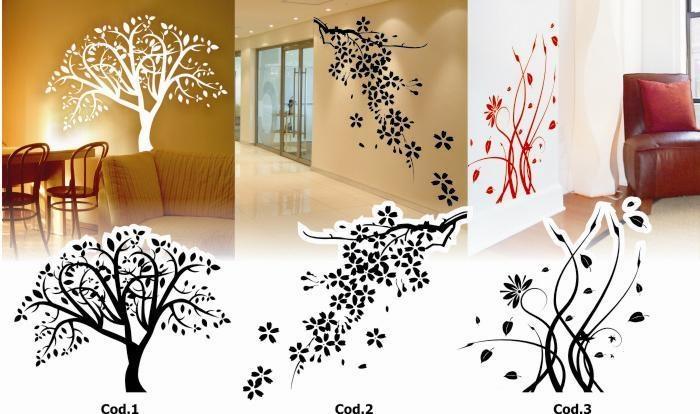 Adesivos De Parede Decorativos - Árvores Galho Pássaro Flor (Papéis e Adesivos de Parede) em Preciolandia Brasil a BRL 24.99 (3te27z)